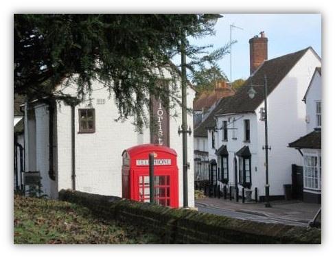 Phone Box in Wheathampstead High Street